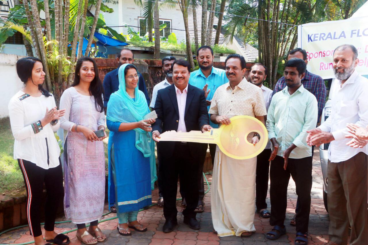 Dr.K.P.Hussain Charitable Trust  donates an ambulance with all the medical facilities . A medical team will visit the 14 district disaster centres and evaluate and supply medicines to the needy people as announced by Dr.K.P.Hussain.This was ambulance was received by Helping Hand team Calicut in the presence of District Collector Kozhikode ,Mr.U.V.Jose.